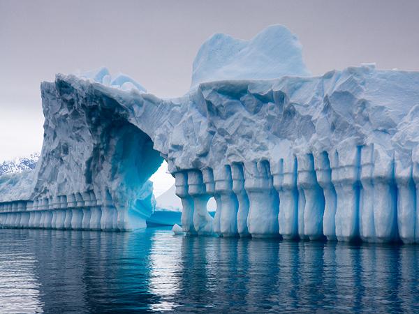 This very amazing shaped iceberg was shot in Plenau Bay, Antarctica.