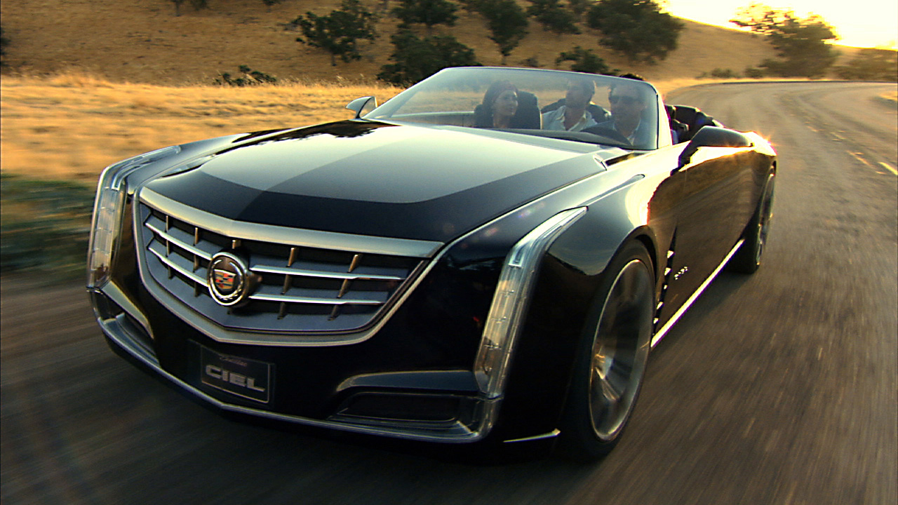 The Cadillac Ciel concept is an elegant, open-air grand-touring car inspired by the natural beauty of the California coast as an exploration into range-topping luxury. (08/18/2011)