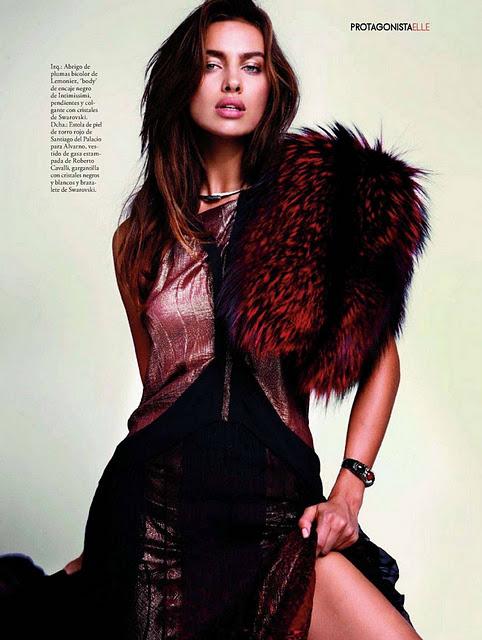 Irina Shayk para Elle Diciembre 2011