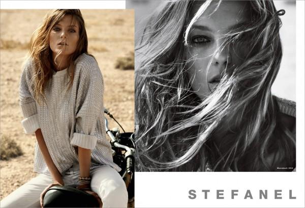Daria Werbowy para Stefanel primavera-verano 2012
