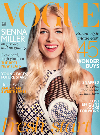Sienna Miller para Vogue UK Abril 2012