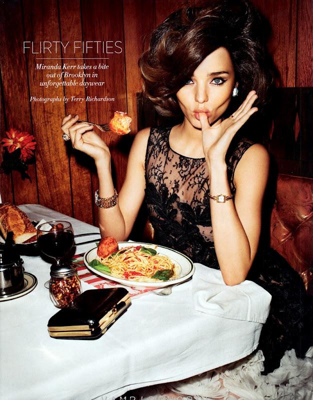 Miranda Kerr para Harper Bazaar US, abril 2012