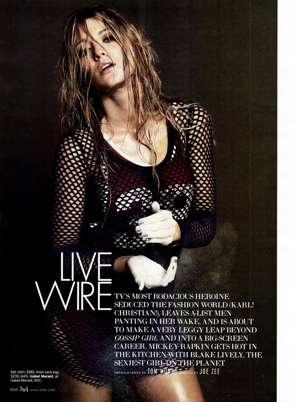 Blake Lively para Elle Marzo 2012