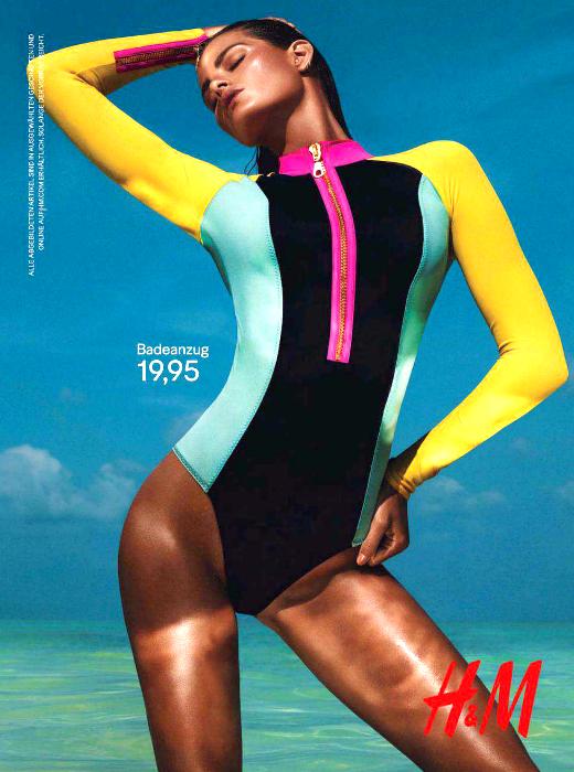 Isabeli Fontana para H&M 'Beach sensation summer' 2012 campaña