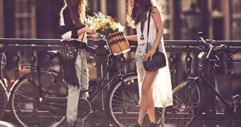 Free People Lookbook: Girls on bikes