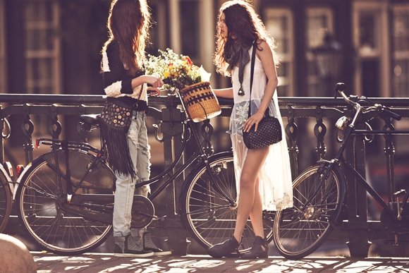 Free People Lookbook: Girls on bikes