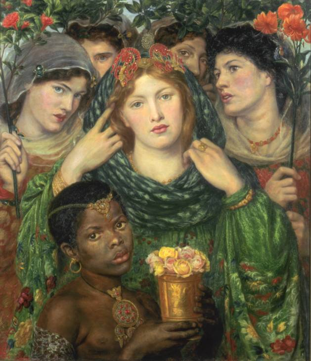 The Beloved ('The Bride') 1865-6 Dante Gabriel Rossetti 1828-1882 Purchased with assistance from Sir Arthur Du Cros Bt and Sir Otto Beit KCMG through the Art Fund 1916 http://www.tate.org.uk/art/work/N03053