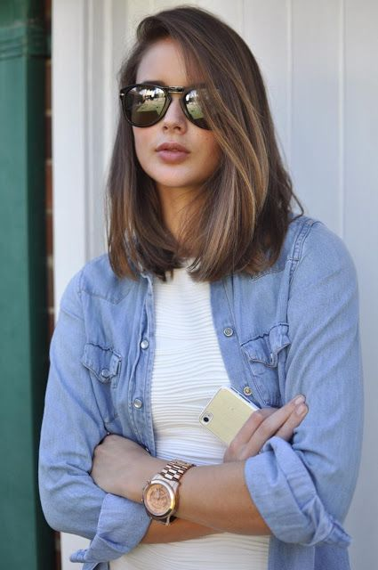 La media melena es el peinado de moda