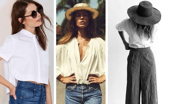 3 Tendencias que tienes que llevar esta temporada camisa blanca