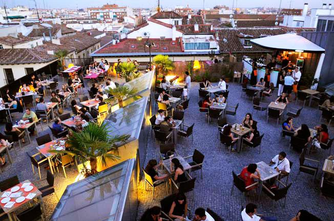 Gau cafe terraza Madrid