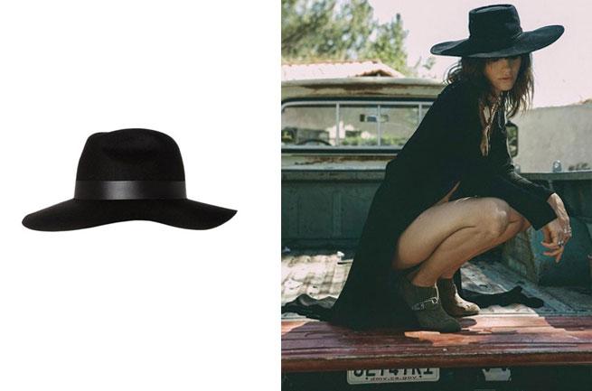 Imprenscindibles_FESTIVALES_sombrero negro de ala ancha Zalando